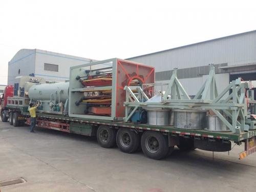 550mmPE管材设备发往山东临沂